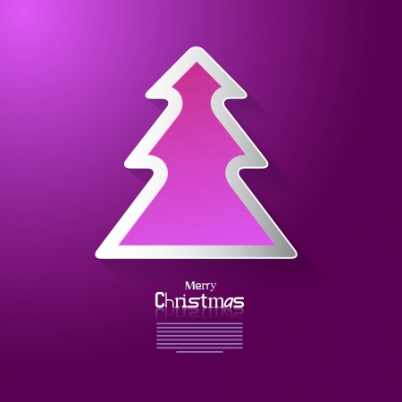 starr: Violet Abstract Vector Merry Christmas Background
