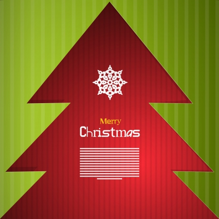 Red and Green Abstract Vector Merry Christmas Background Vector
