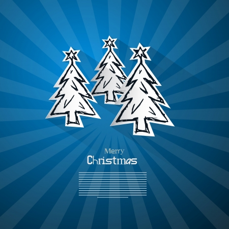 Blue Abstract Vector Merry Christmas Background Vector