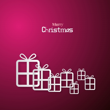 starr: Pink Abstract Vector Merry Christmas Background