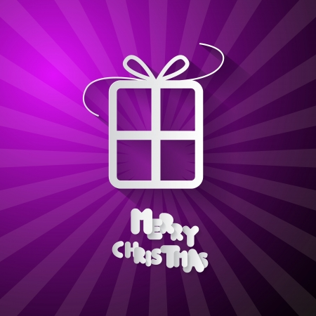 starr: Violet Abstract Vector Merry Christmas Background Illustration