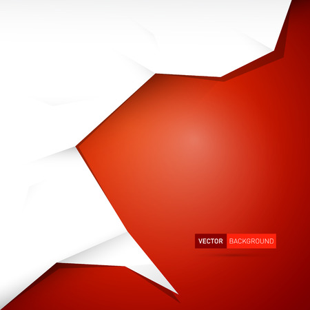 red background: Red abstract vector background with white paper placed