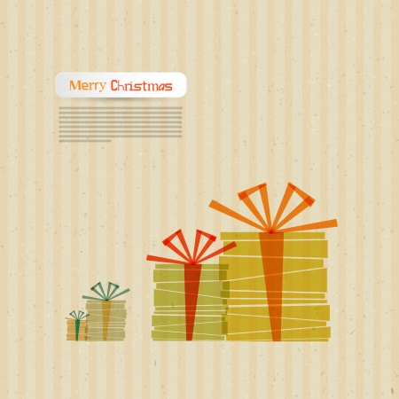 starr: Vector Christmas Theme - Present Boxes Made From Paper