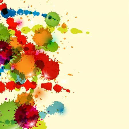 Abstract Vector Background - Colorful Splashes, Blots Vector