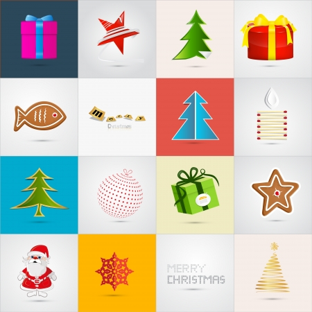 Vector Christmas Icons Set  Vector