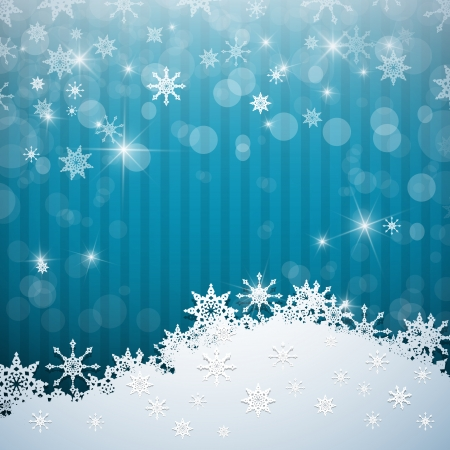 Abstract Blue Vector Background. Snow, Christmas. Vector