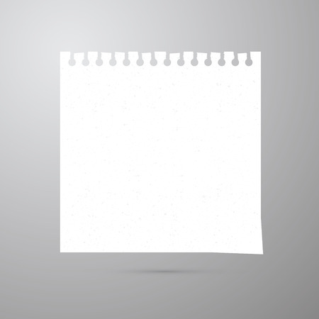 Vector Empty White Paper Sheet  Vector