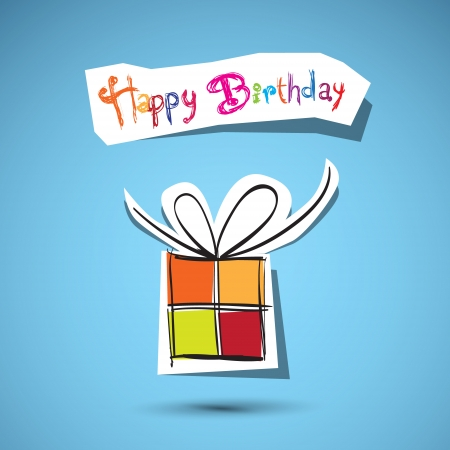 Vector Happy Birthday to You theme on blue background  Vector
