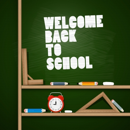 Vector Back to school theme  Vector