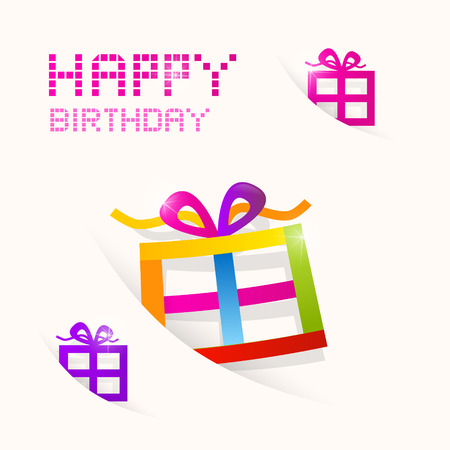 Vector Happy Birthday colorful theme  Vector