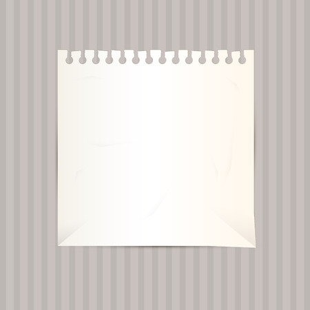 Vector Empty White Paper Sheet on Cardboar Background Vector