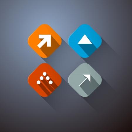 Retro Vector Arrows Set on Dark Background  Vector