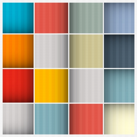 Abstract Retro Square Background Vector
