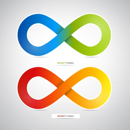 Abstract Colorful infinity symbols