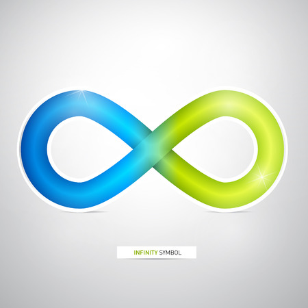 Blue, Green Abstract infinity symbol