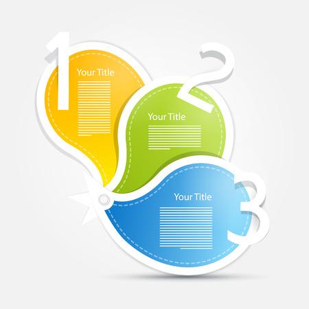 hintergrund gr�n gelb: Vector Fortschritt Schritte f�r Tutorial, Infografik. Blau, gr�n, gelb, orange. Illustration