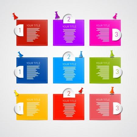 progress steps: Colorful Vector Progress Steps for Tutorial, Infographics Illustration