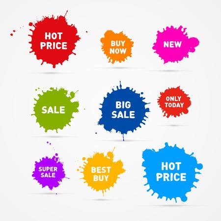 カラフルなベクトルの販売しみアイコン  イラスト・ベクター素材
