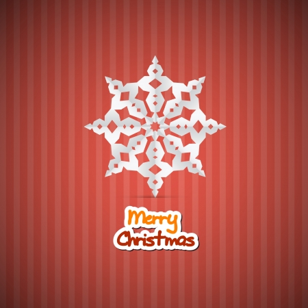 starr: Retro Red Abstract Vector Merry Christmas Background