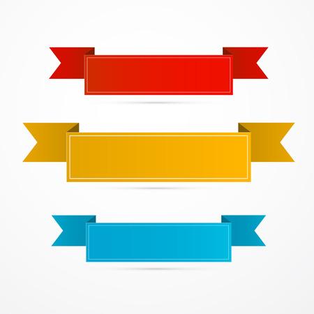 리본은 라벨 설정합니다. 빨강, 노랑, 파랑.