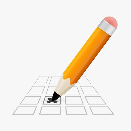 Pencil Check Option Vector