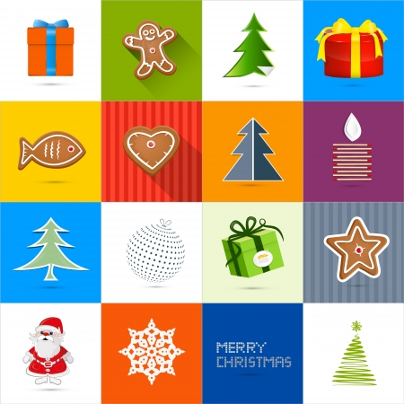 starr: Sixteen Christmas Vector Backgrounds Set