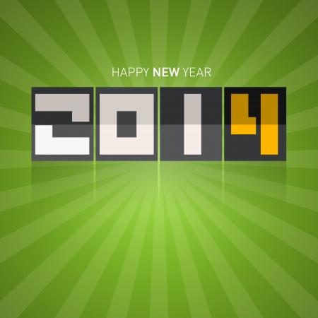 Vector Happy New Year Green Background Vector