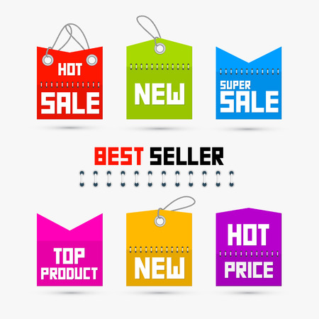 Colorful Sale, Discount Tags, Labels Vector