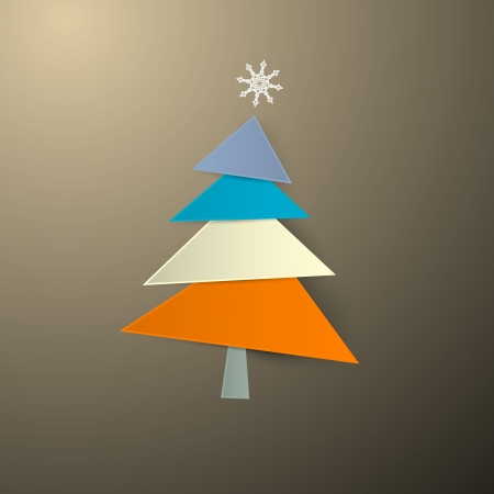 starr: Abstract Paper Christmas Tree