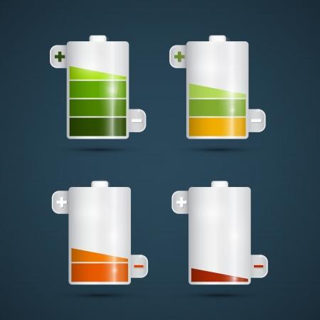 reflection of life:  Battery Life Symbols Set  Illustration