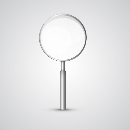 3 d glasses: Magnifying Glass Isolated on Grey Background