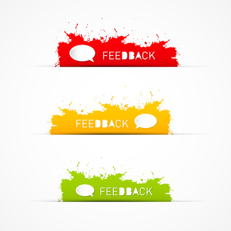 Colorful feedback icons  Vector