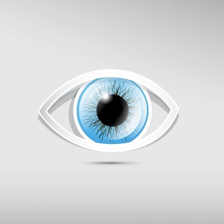 ojo azul: Resumen del trabajo vectorial ojos azules sobre fondo gris