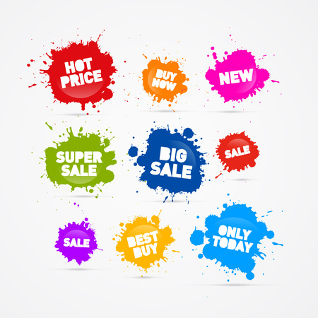 Colorful Vector Sale Blots Icons  Vector
