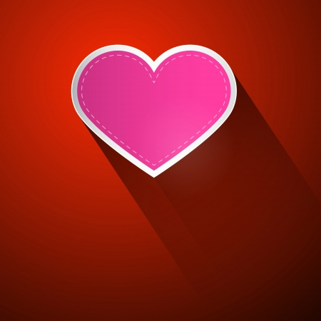 I Love You Theme, Pink Heart on Dark Red Background Vector