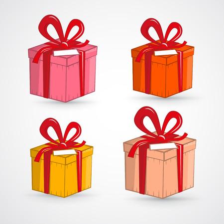 흰색 배경에 고립 된 선물 상자