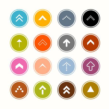Conjunto de las flechas en los círculos Vectores