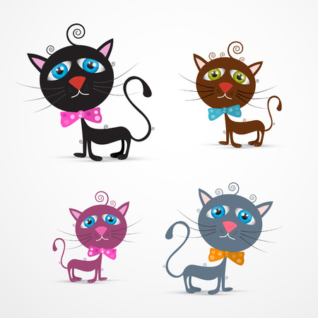 Cat Illustration Set Vector