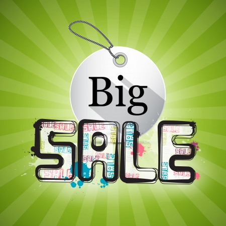 Big Sale Green Background Vector