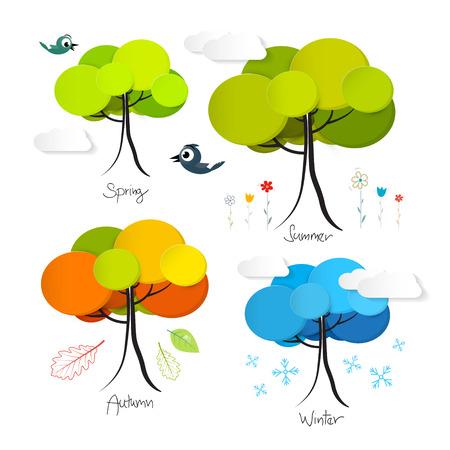 cuatro elementos: Four Seasons Ilustraci�n