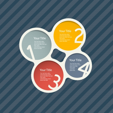 Vector Circle Progress Steps for Tutorial, Infographics Vector