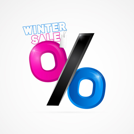 Winter Sale Object Isolated on White Background  Vector