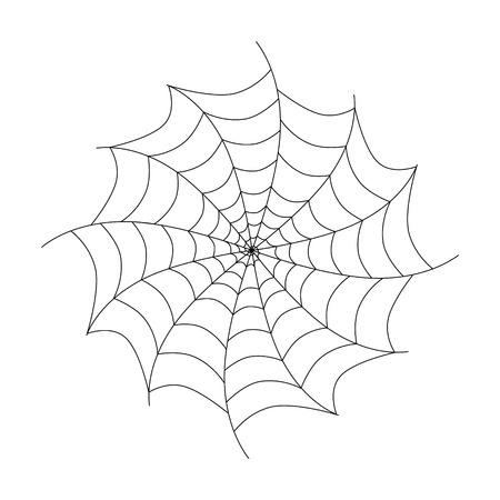 Vecteur noir de toile d'araignée isolé sur fond blanc