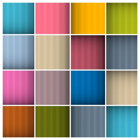 Vector Abstract Retro Colorful Squares Background Vector