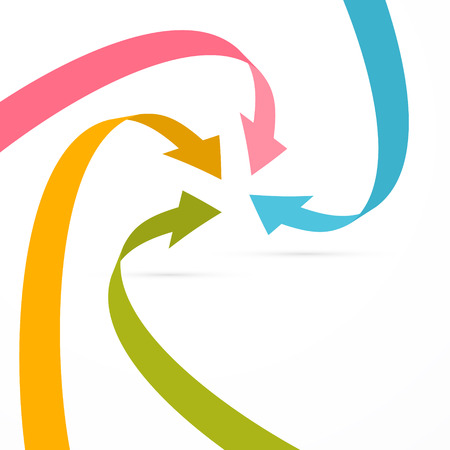 arrow circle: Abstract Retro Colorful Vector Arrows Background  Illustration