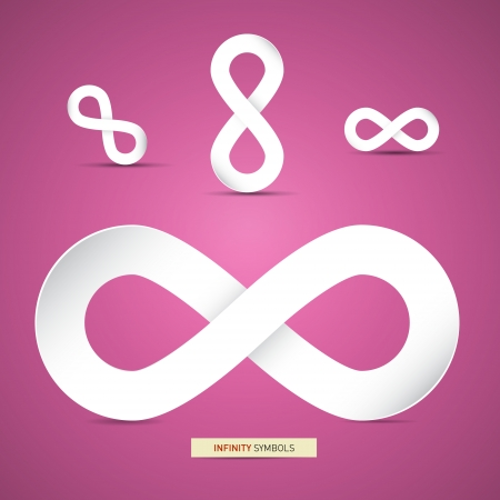 Vector Paper Infinity Symbols on Pink Background  Vector