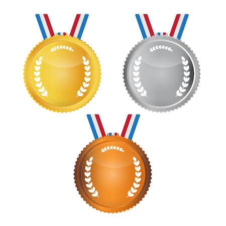 Vector Medals Set Isolated on White Background Vector