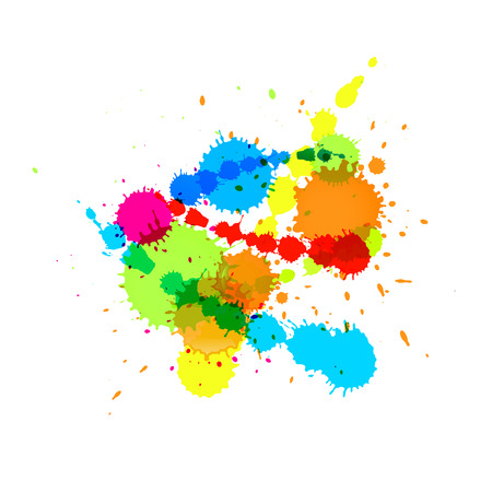 colour splash: Colorful Vector Splashes Abstract Background