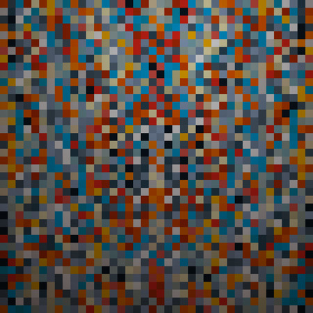 Abstract Vector Retro Square Background  Vector
