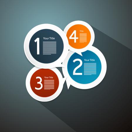 tutorial: Vector Progress Steps for Tutorial, Infographics